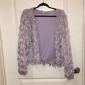 Fringe lavender jacket